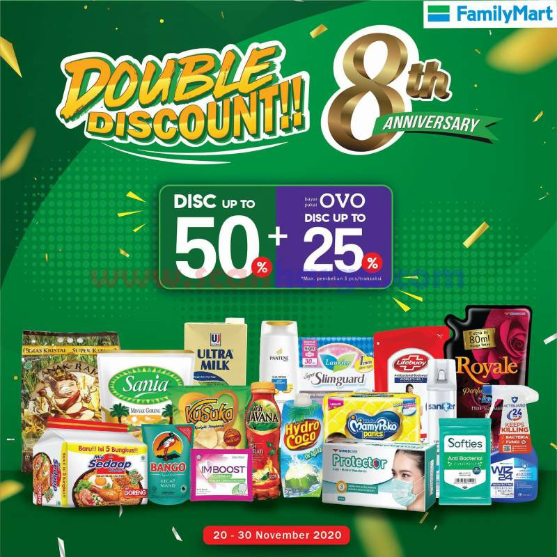 Family Mart Promo Double Discount 8 th Anniversary*
