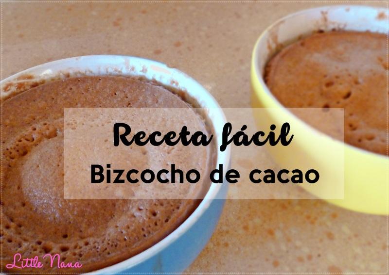 receta bizcocho facil cacao cocina