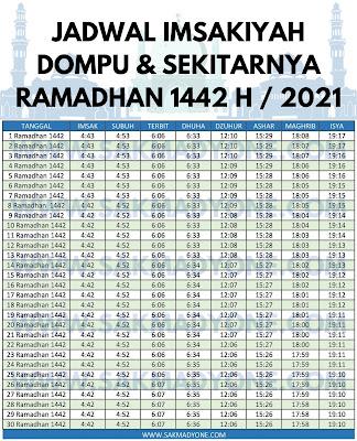 Jadwal imsakiyah ramadhan 2021 dompu