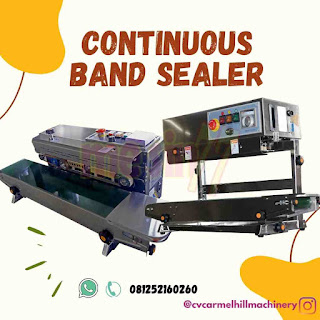 Continuous Band Sealer Machine seri FR900V merek MESIN 77