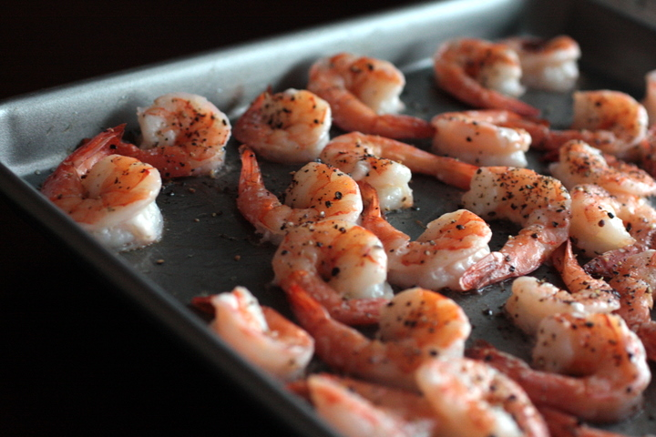 Ina Garten's Roasted Shrimp Cocktail with Spicy Cocktail