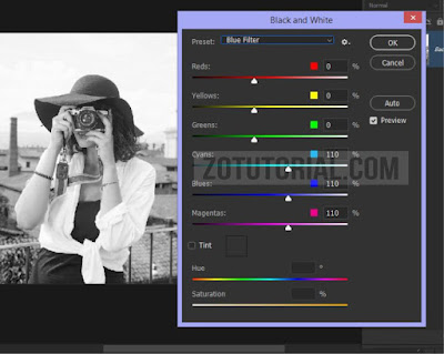 5 Edit Foto Jadi Hitam Putih Menggunakan Photoshop CC/CS by zotutorial.com