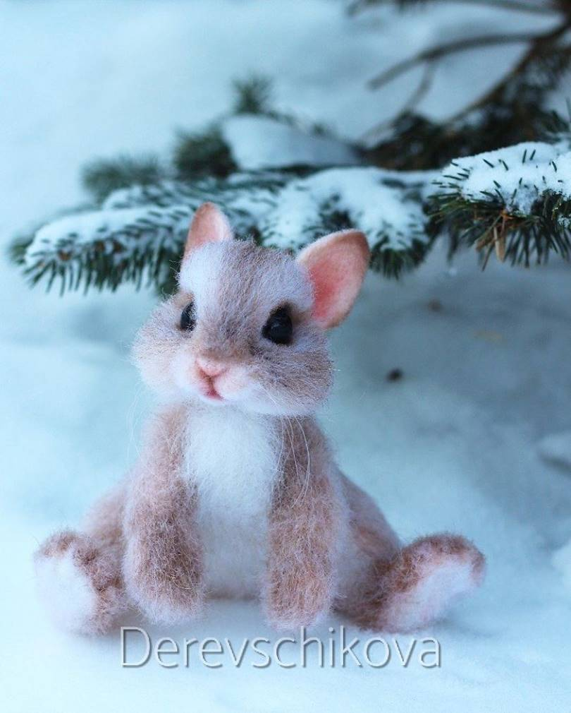 Unique Russian artist Julia Derevshchikova from Khabarovsk, who creates woolen little animals with her own hands, just like they escaped from Disney cartoons.