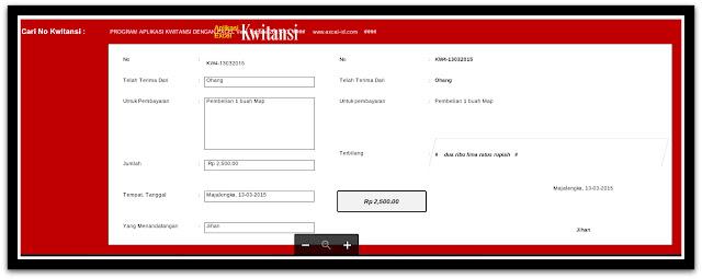 Download Aplikasi Cetak Kwitansi Terbaru Untuk Laporan BOS