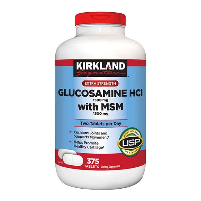 Kirkland Glucosamine HCL 1500mg with MSM 1500mg hộp 375 viên
