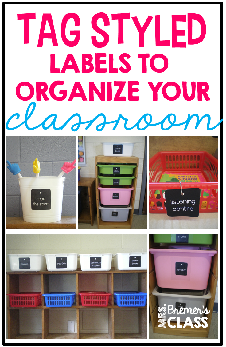 Classroom Decor Tag Styled Labels on Centers Sunday 4 Free K 2