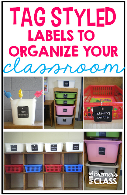 Tag styled labels to organize the classroom