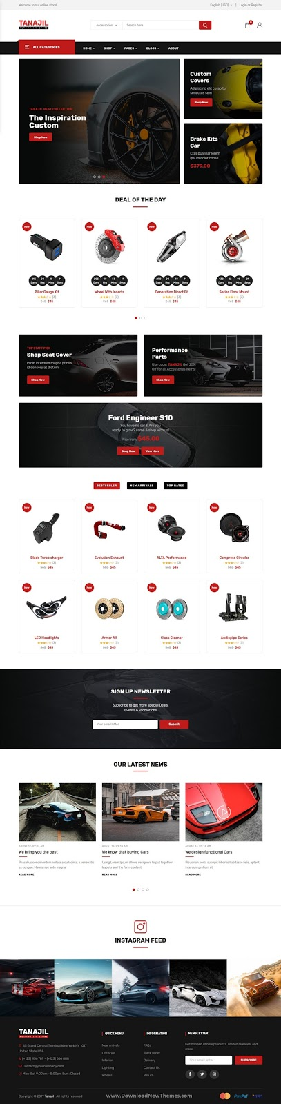 Automotive Store HTML Template