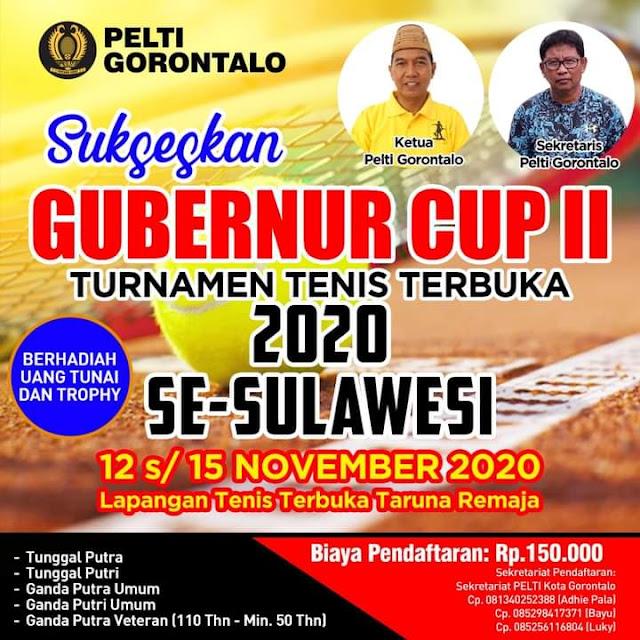 GUBERNUR CUP II  TURNAMEN TENIS TERBUKA 2020 SE-SULAWESI
