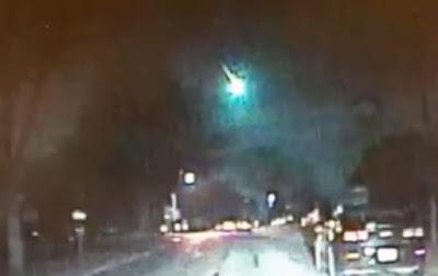 Метеор над Середнім заходом, США