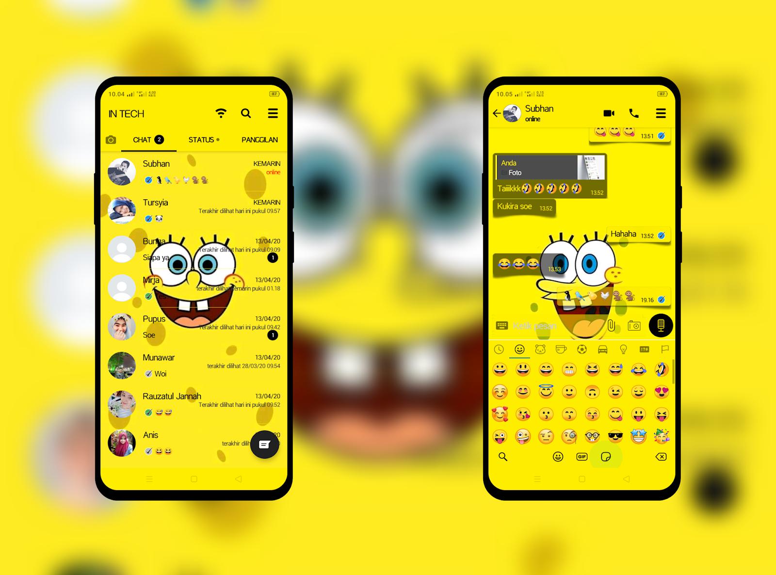Kumpulan Tema WhatsApp Spongebob Tampilan Baru 2020 - Next ...