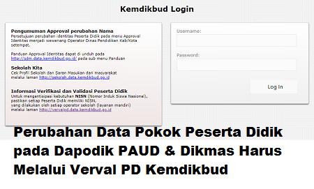 Perubahan PD Paud dan dikmas melalui verval pd