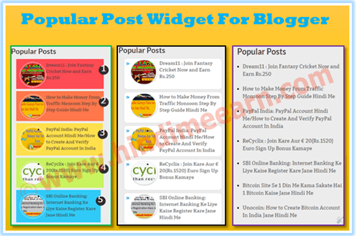 Stylish Popular Post Widget