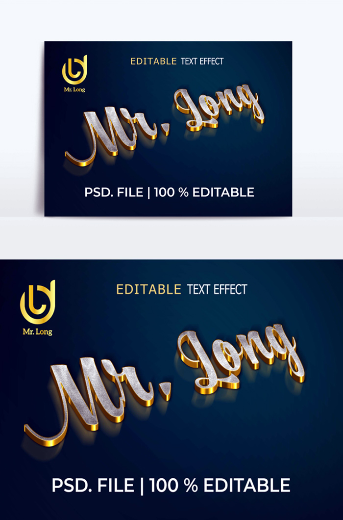 3D Gold Text Effects Correct PSD Templates