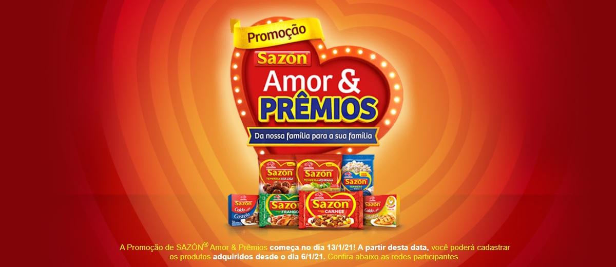 Participar Promoção Amor E Prêmios Sazón 2021 Sorteio de Prêmios - Cadastrar e Ganhadores