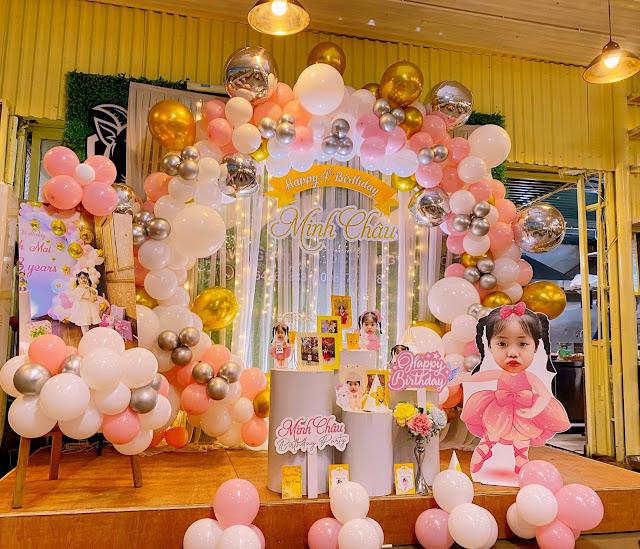 trang trí sinh nhật bé gái tại nhà hà nội