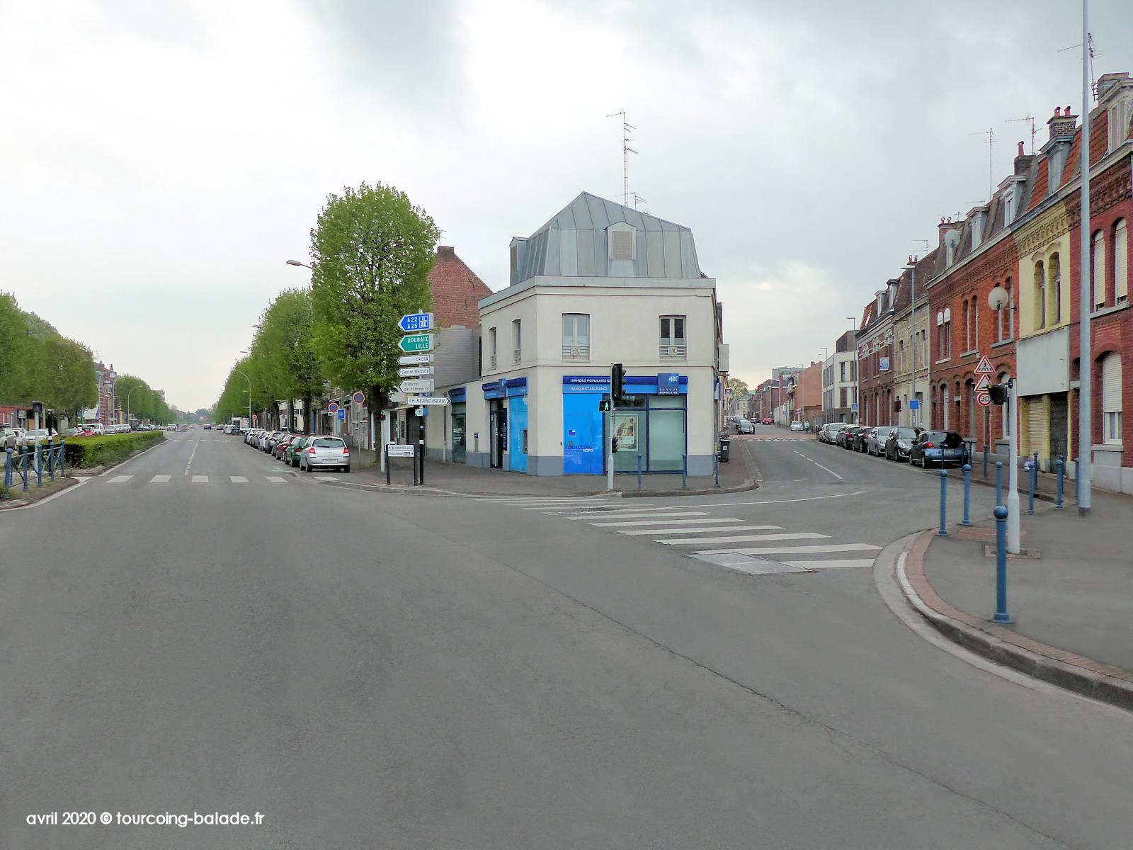 Boulevard Gambetta et Rue des Carliers, Tourcoing, 2020.