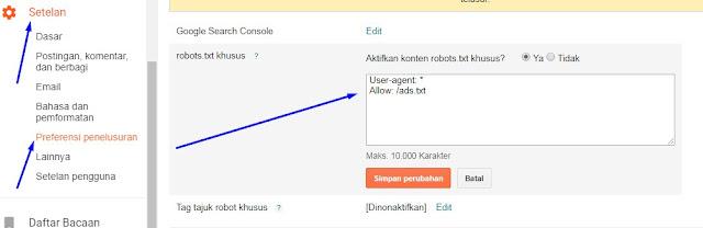 Memperbaiki Masalah File Ads.txt Google Adsense di Blogger 2020
