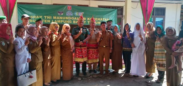 Bedudu Tuan Rumah Program Kesrak TNI Manunggal KB Kesehatan