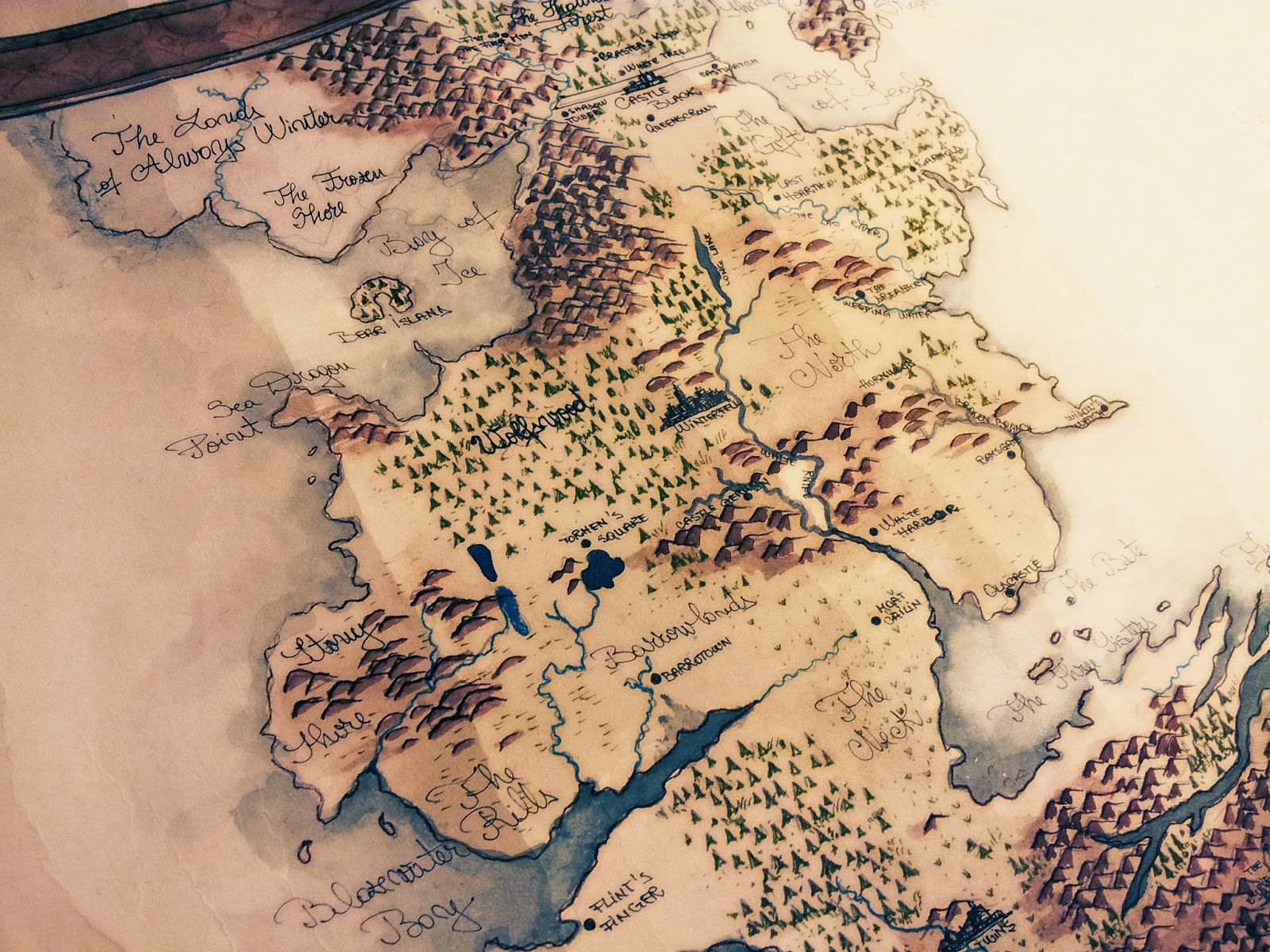 Map Westeros Drawing