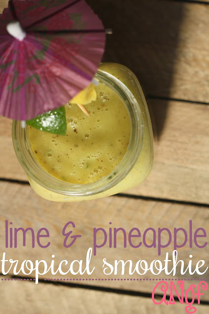 Kiwi, Lime & Pineapple Tropical Smoothie by Anyonita Nibbles Gluten Free