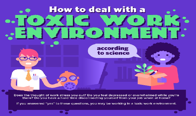 How To Deal With a Toxic Work Environment #infographic