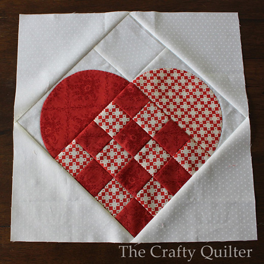 Nordic Heart Quilt Block designed by Julie Cefalu for The Crafty Quilter