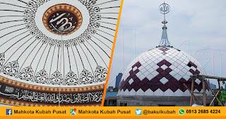Pemasangan Kubah Masjid Enamel, Palmerah - Jakarta Barat