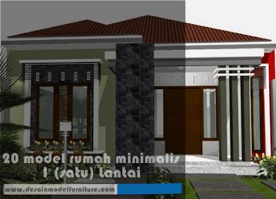 contoh model rumah minimalis modern model model 1 lantai terbaru