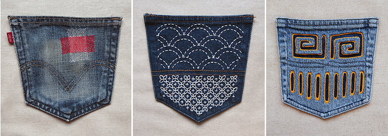 Stitch and Yarn's upcycled jean pocket project