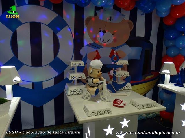 Ornamentação de festa Ursinho Marinheiro - Aniversário infantil