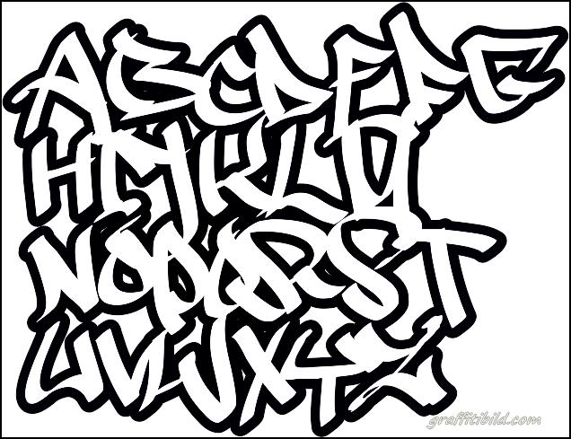 graffiti schrift, graffiti abc, graffiti alphabet einfach