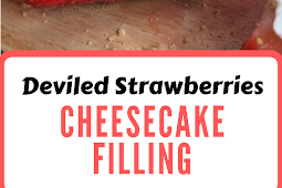 Deviled Strawberries Made with a Cheesecake Filling