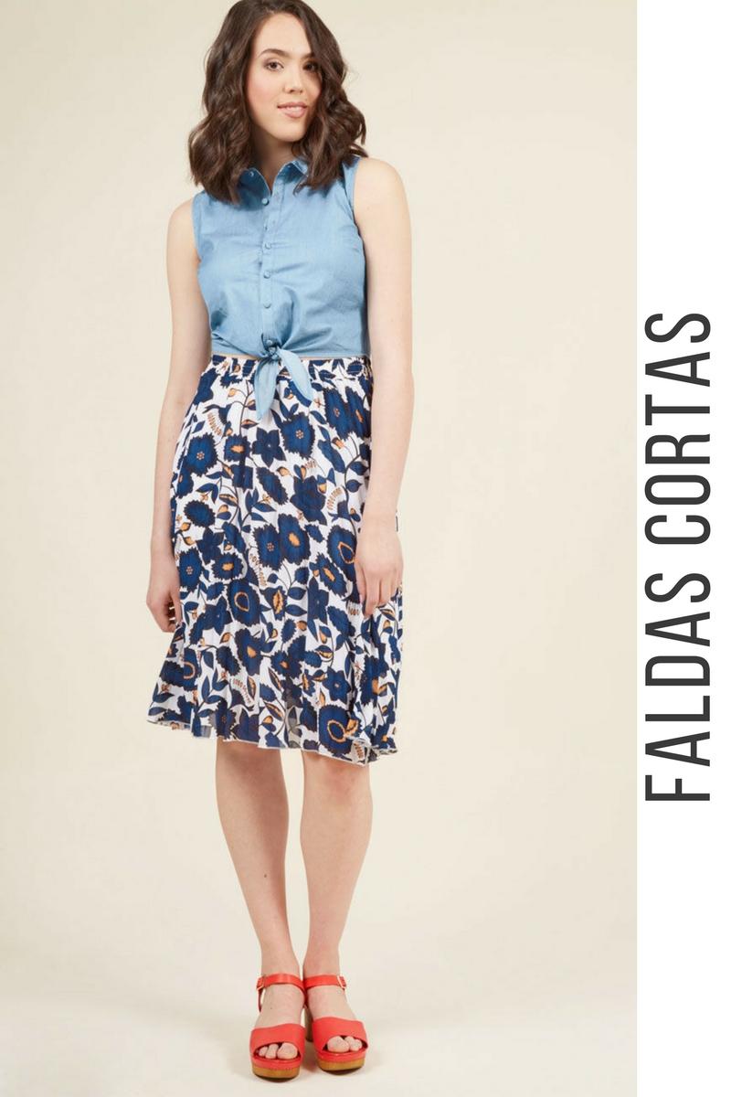 8abe3003b26 43 Modelos de Faldas Cortas que NO te Puedes Perder ¡Tendencias ...