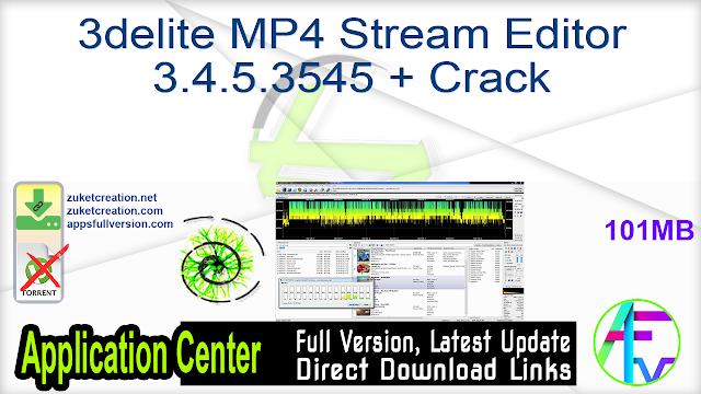 3delite MP4 Stream Editor 3.4.5.3545 + Crack