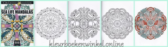 kleurboeken  sea life mandalas