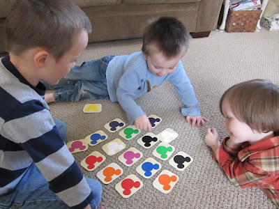 Color Paint Chip Match Game-The Unlikely Homeschool