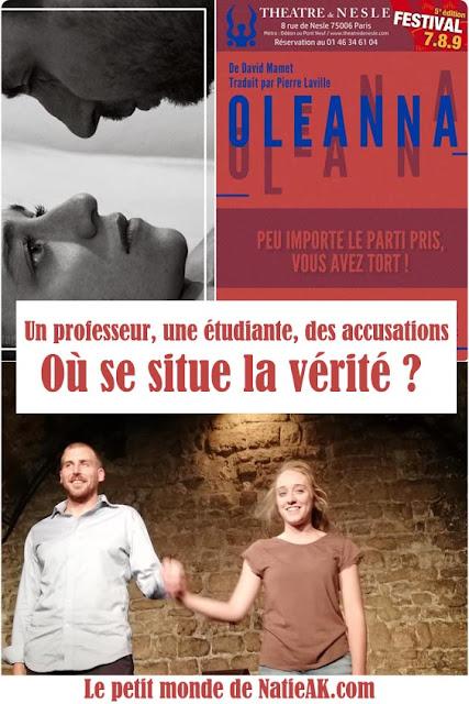 Oléanna avis théâtre