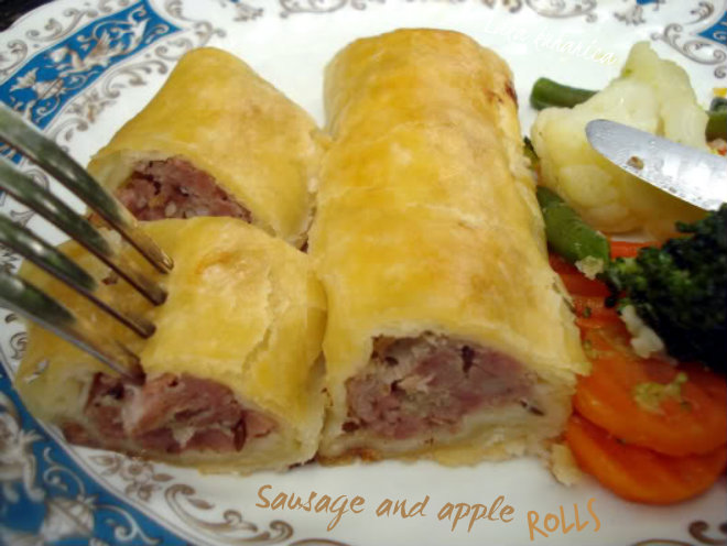 Sausage and apple rolls by Laka kuharica: tasty, juicy  and easy to make sausage and apple rolls.