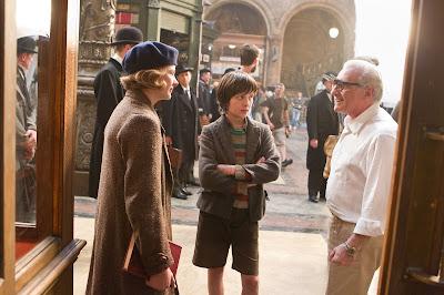 Hugo Dirtector Martin Scorsese, Chloë Grace Moretz and Asa Butterfield behind the scenes on Hugo