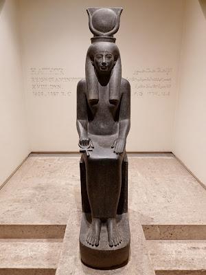 Statue of the Egyptian Goddess Hathor, 18th Dynasty, Luxor Museum, Egypt.