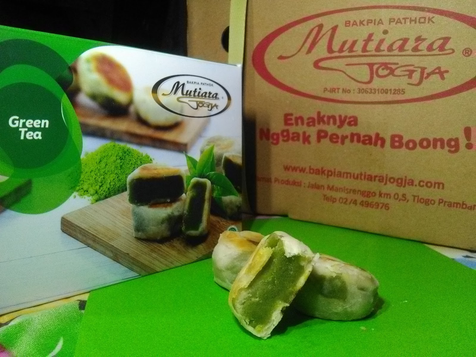 Bakpia Mutiara Jogja rasa Green Tea