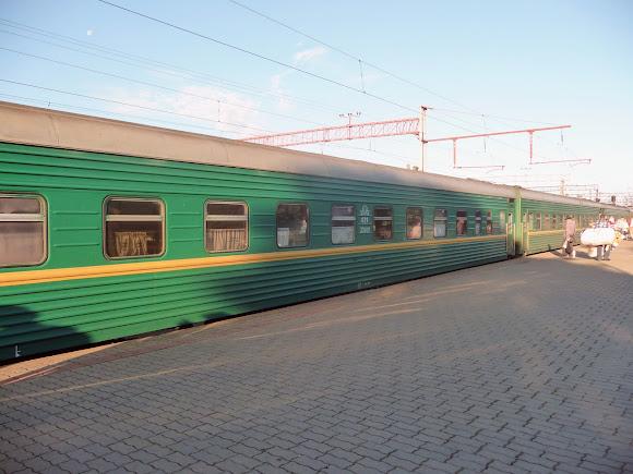 Железнодорожная станция Конотоп. Поезд № 047 Кишинёв – Москва