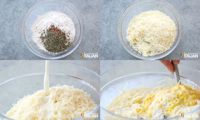pizza puffs step-by-step seasoning cheese