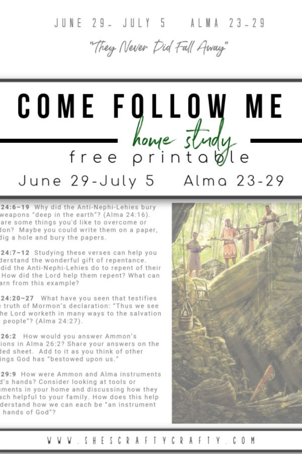 Come Follow Me Home Study free printable