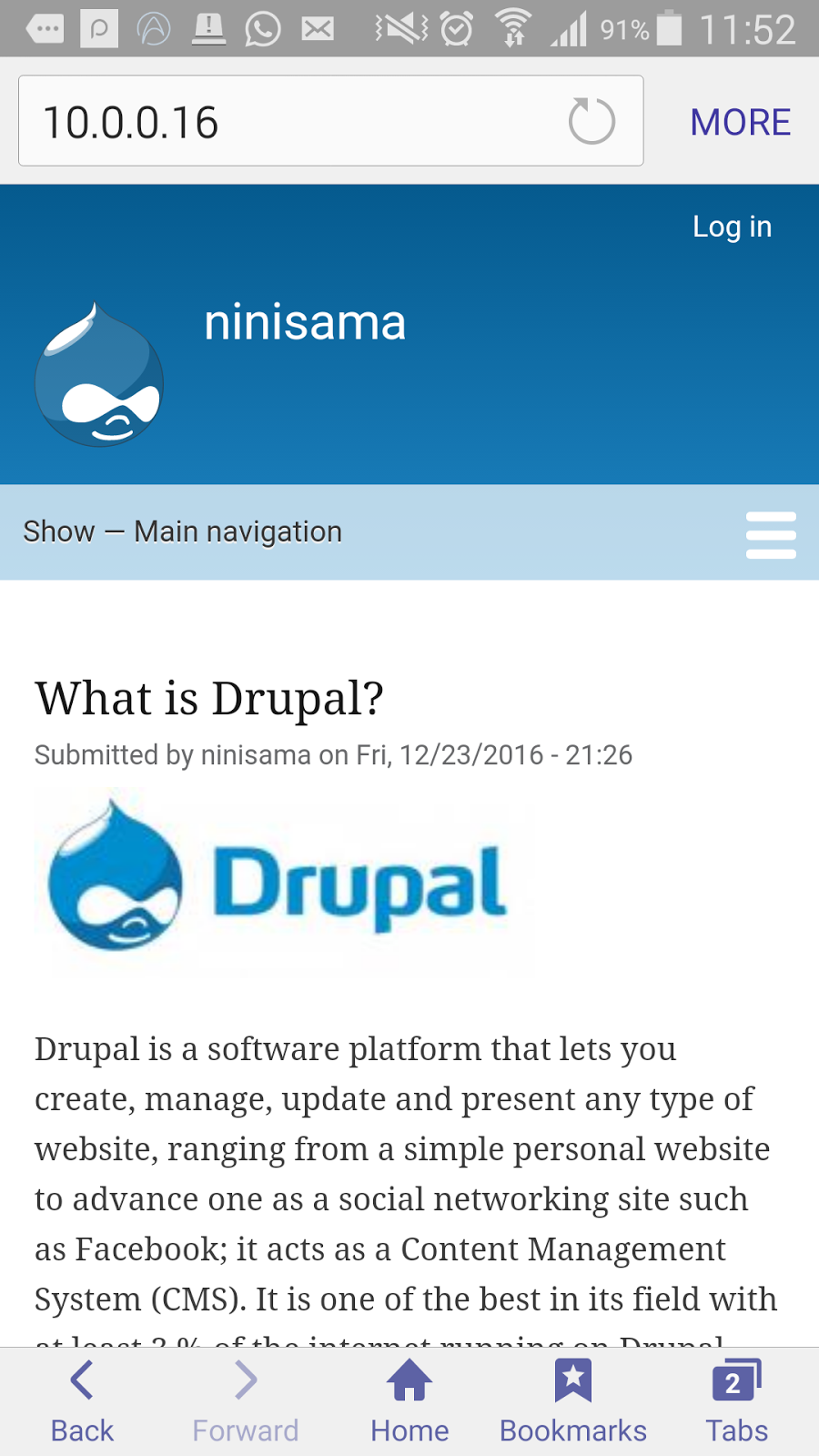 Test Drupal 8 default theme on Multiple Devices in Multiple