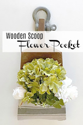 DIY Farmhouse Style Wall Pocket for Flowers