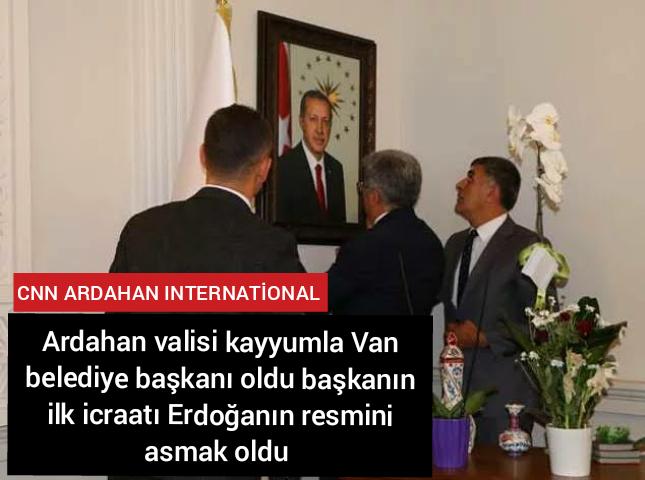 Ardahan valisi kayyumla Van belediye başkanı oldu