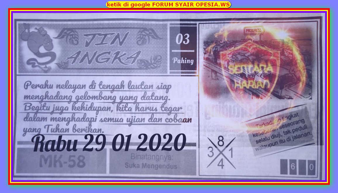 Kode syair Hongkong Rabu 29 Januari 2020 77