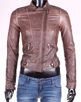 Geaca Zara Dama Brown Faux Leather (Zara)